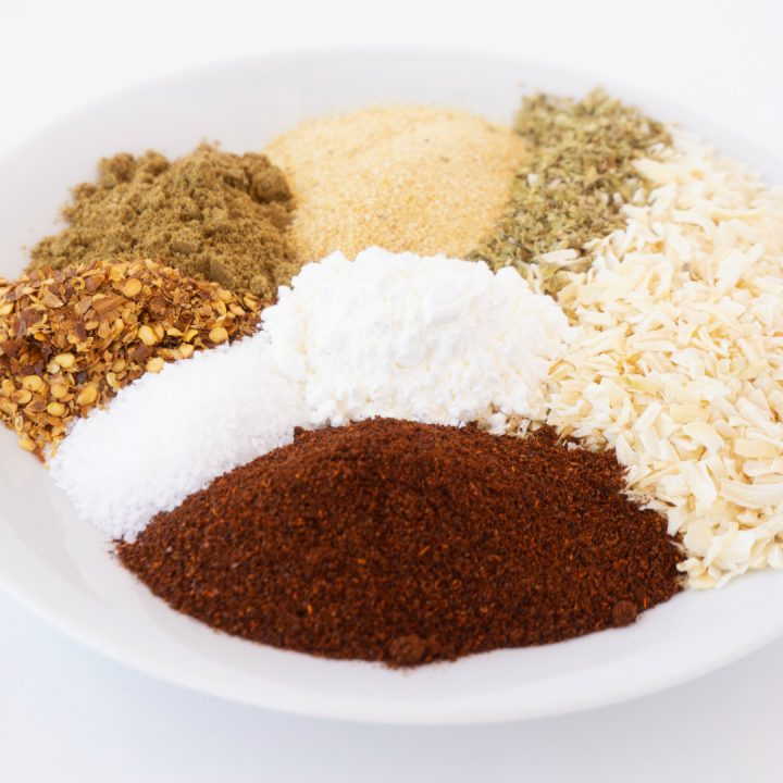 Double or Triple my easy Homemade Taco Seasoning for quick meals all week long! It's perfect in so many recipes.  I always make a huge batch because we use it all the time! #homemadetacoseasoning #diytacoseasoning #tacos