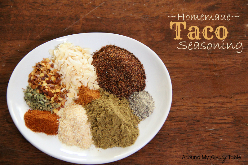 titled image (and shown) Homemade Taco Seasoning