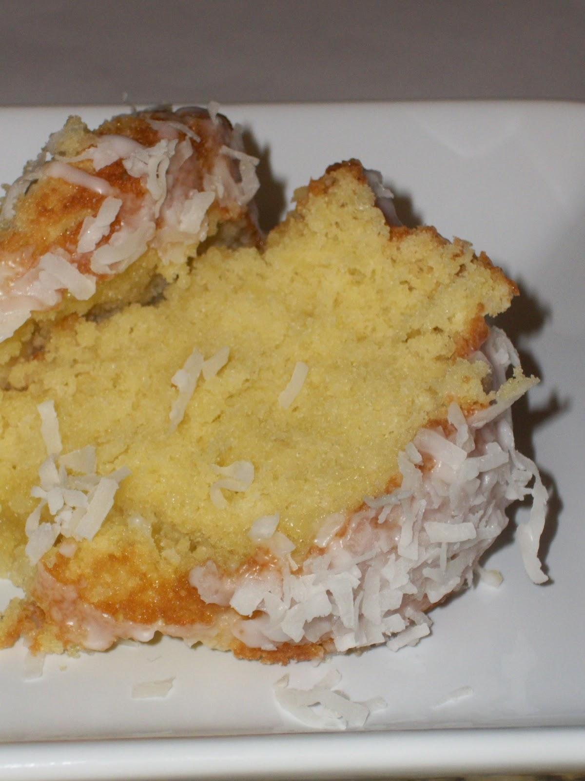 Moist Lemon Coconut Cake