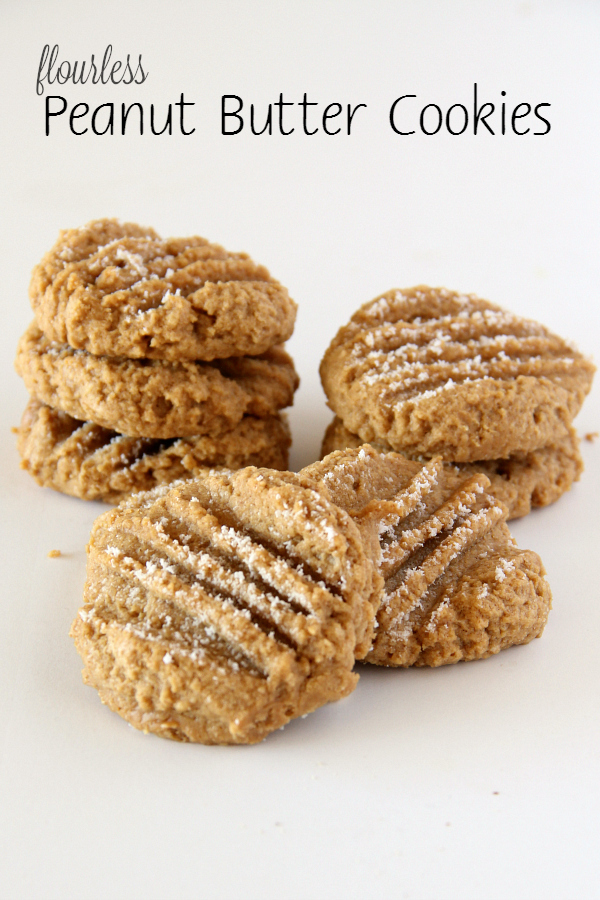 ... easier cookie than these 3-ingredient Flourless Peanut Butter Cookies