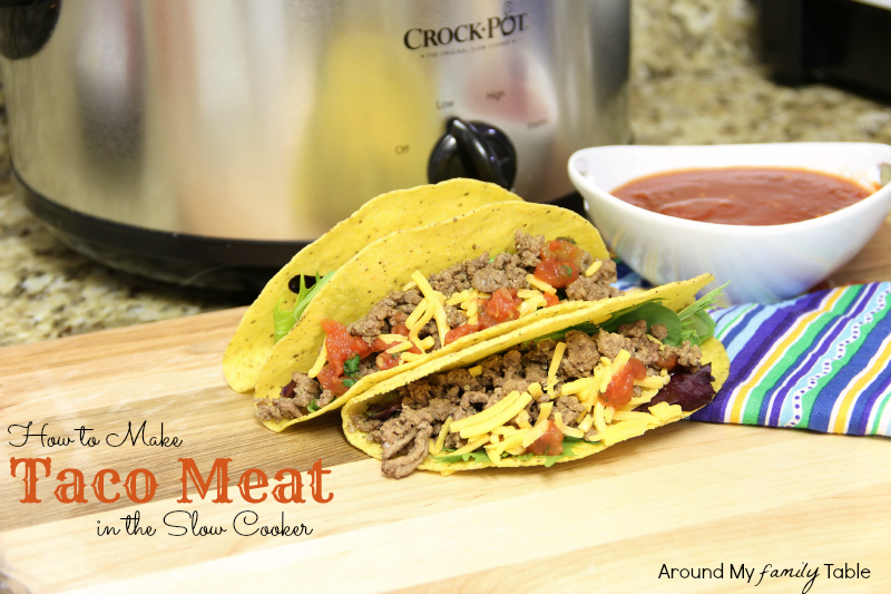 How to Make Taco Meat in the Slow Cooker