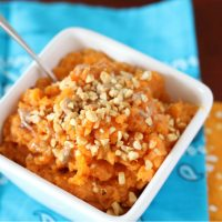 Mashed Sweet Potatoes with Brown Sugar and Browned Butter