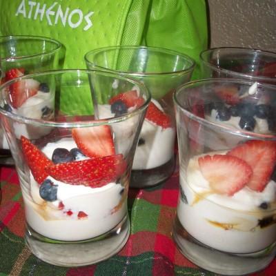 Greek Yogurt with Fresh Berries