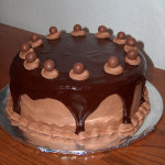 Chocolate Malt Cake with Ganache, Part 2