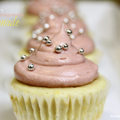 Pomegranate Lemonade Cupcakes