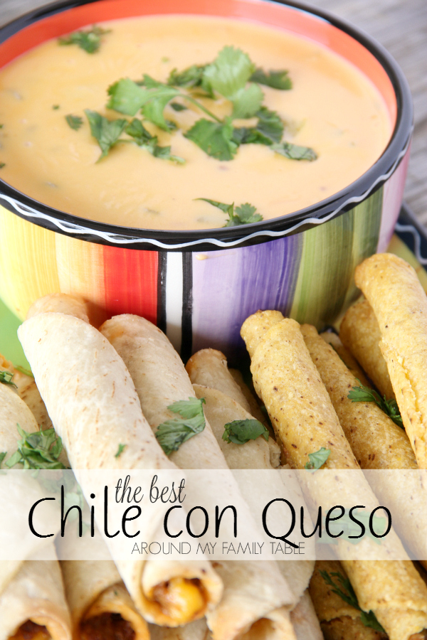 "Everyone says the same thing when they first try this dip. They tell me, ""the is the The Best Chile con Queso EVER""!"