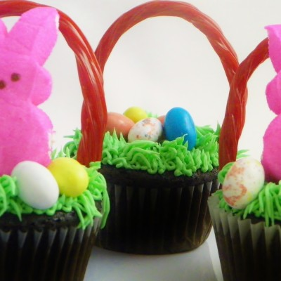 Fun Easter Basket Cupcakes