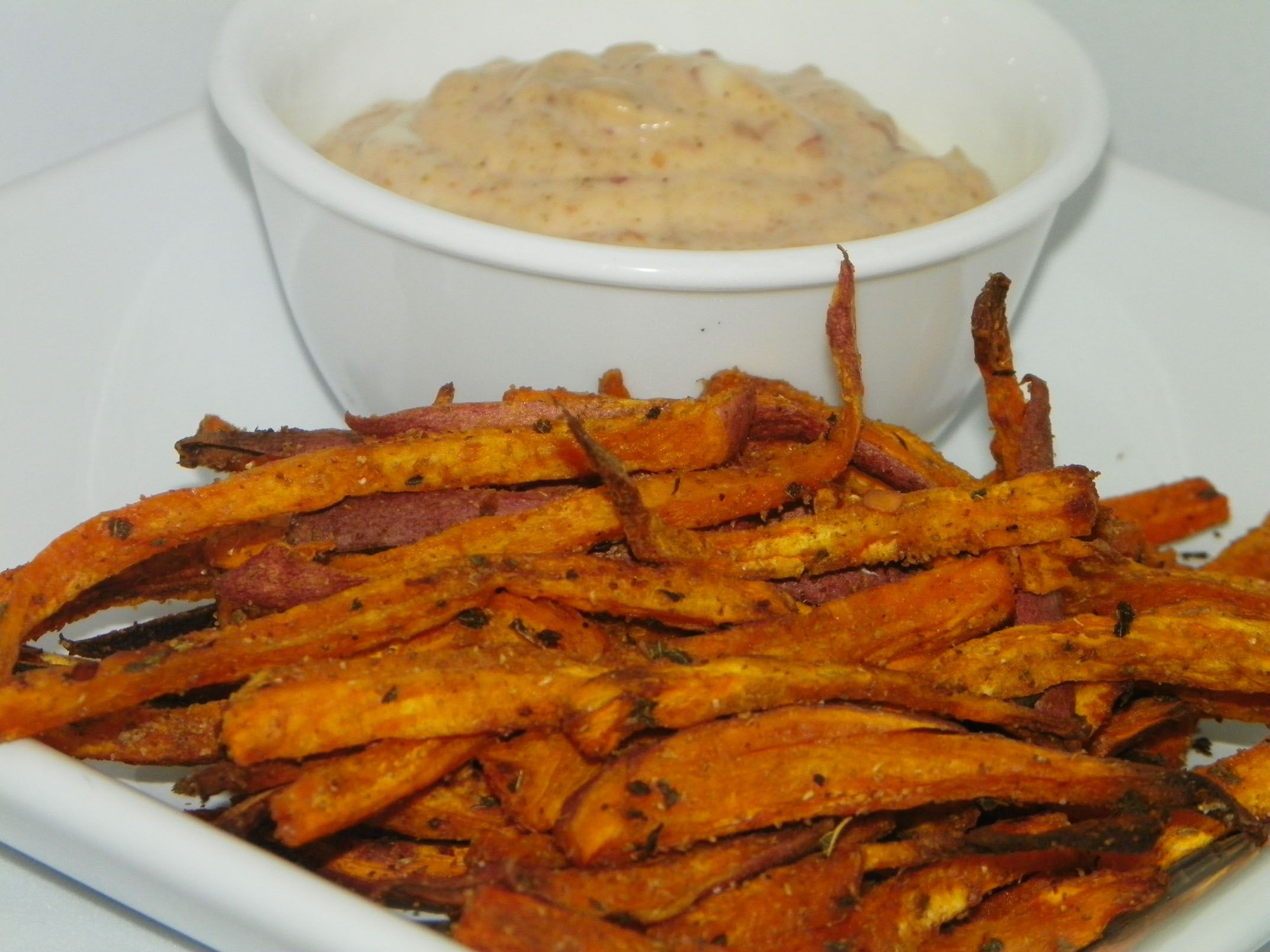 Recipe: Baked Sweet Potato Fries with Chipotle Dipping ...