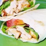 BBQ Chicken Wraps with Garlic Aioli