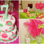 Pink and Green Birthday Party