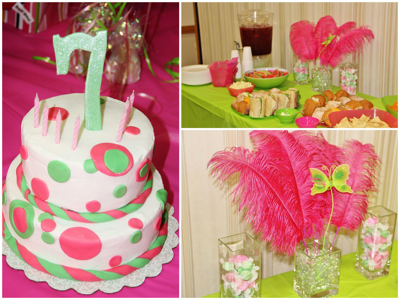 Pink And Green Birthday Party Around My Family Table