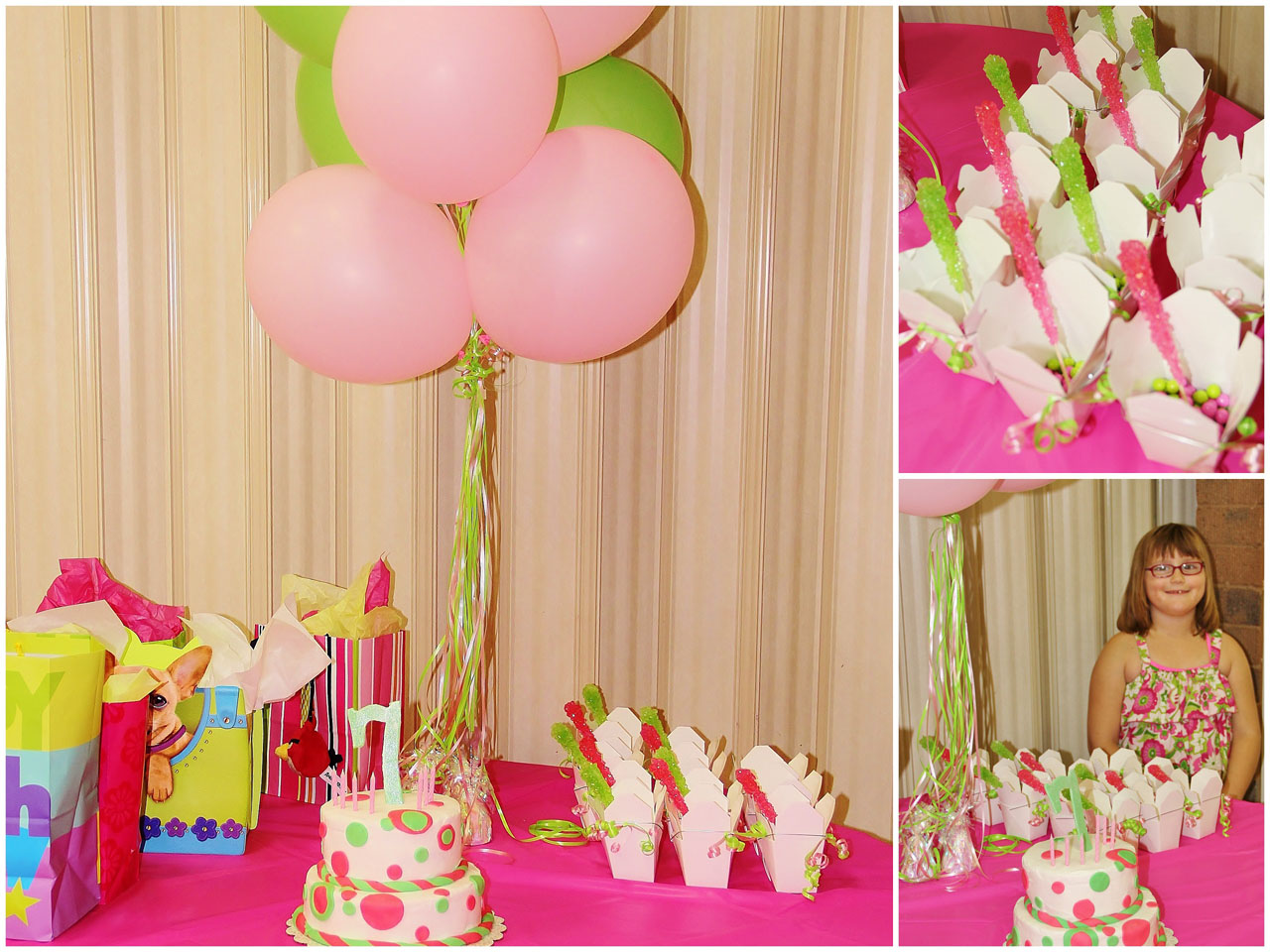 Pink Green Birthday Party