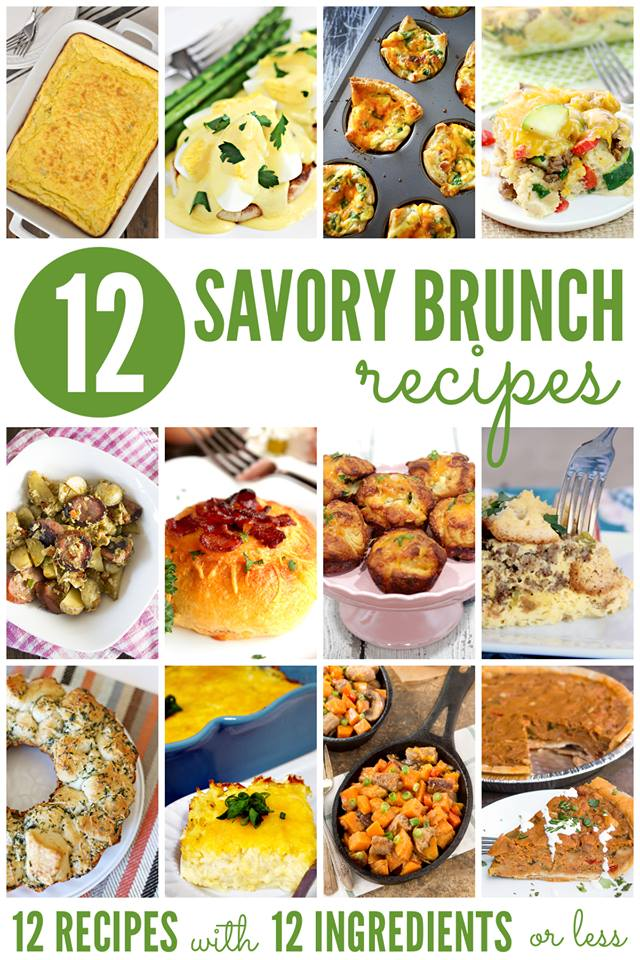 12 delicious Brunch Recipes that are perfect for lazy weekends or a party!