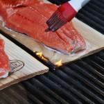 Cedar Planked Teriyaki Salmon