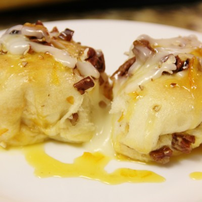 Orange Breakfast Rolls with Cream Cheese Glaze