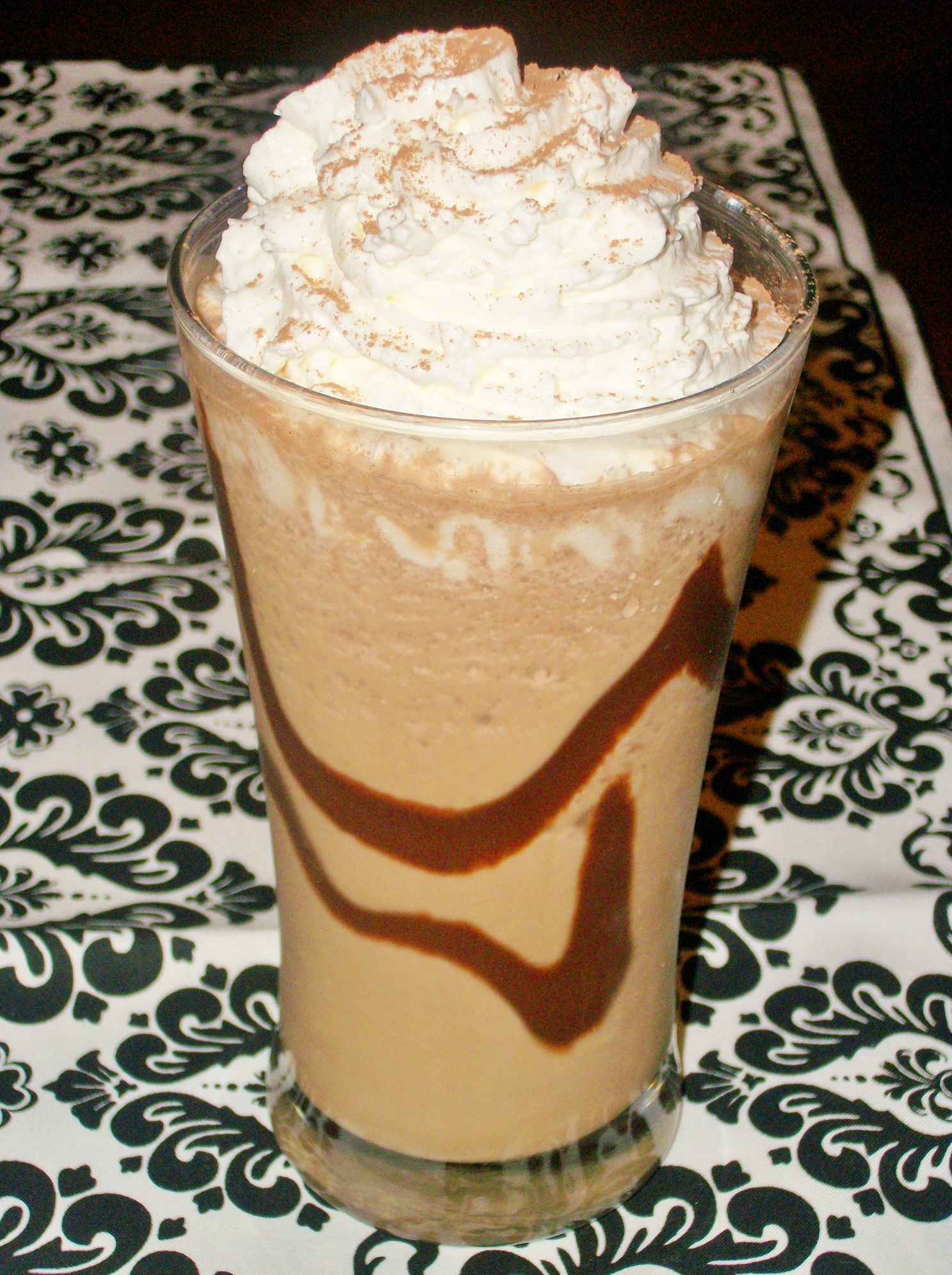 Chocolate Cream Drink Frappuccino Ice Blended | Dark Brown Hairs