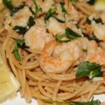 Shrimp Scampi with Whole Wheat Spaghetti