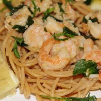 Shrimp Scampi with Whole Wheat Spaghetti