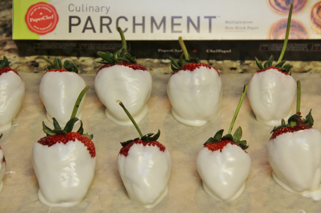 White Chocolate Dipped Strawberries