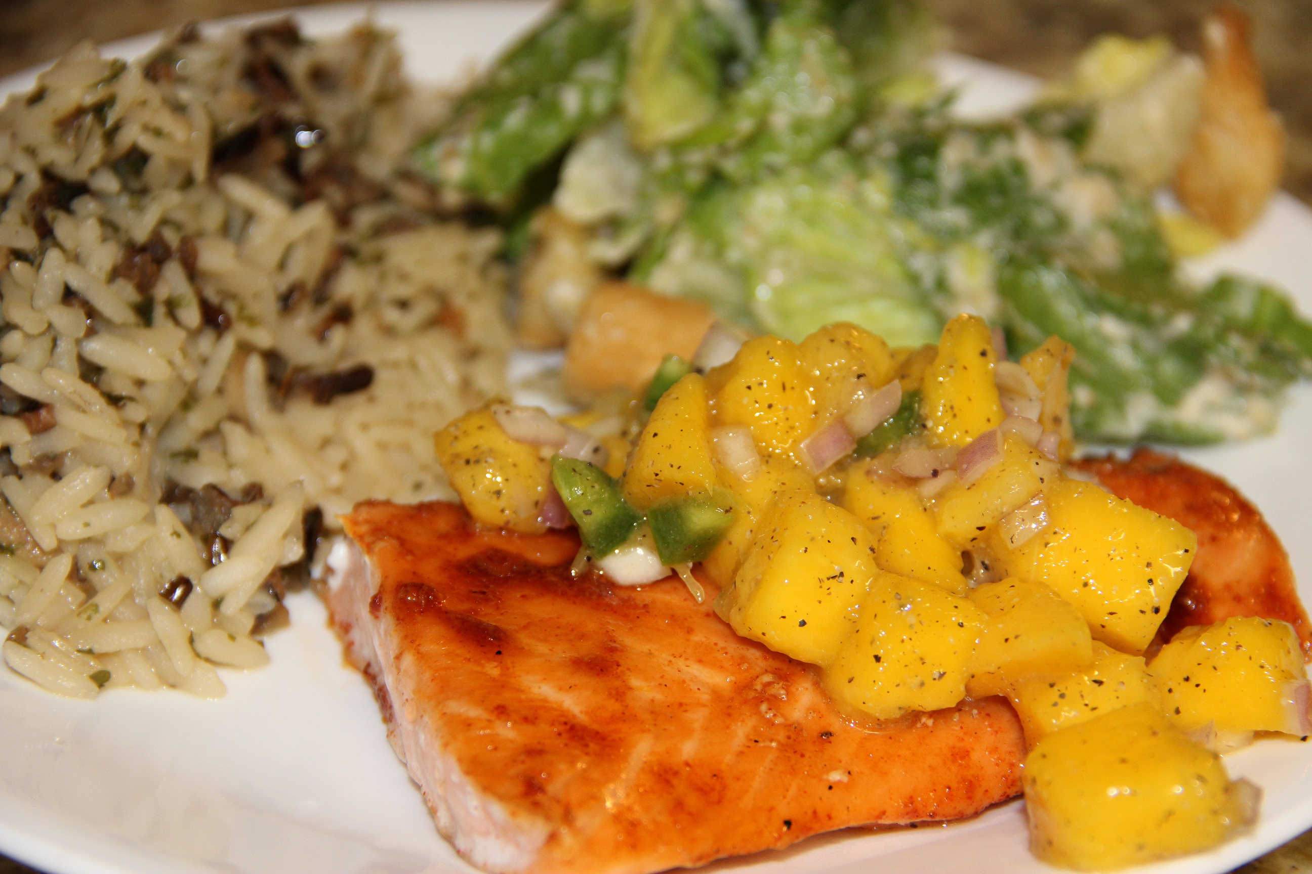 Sweet Chipotle Salmon with Mango Salsa - Around My Family Table