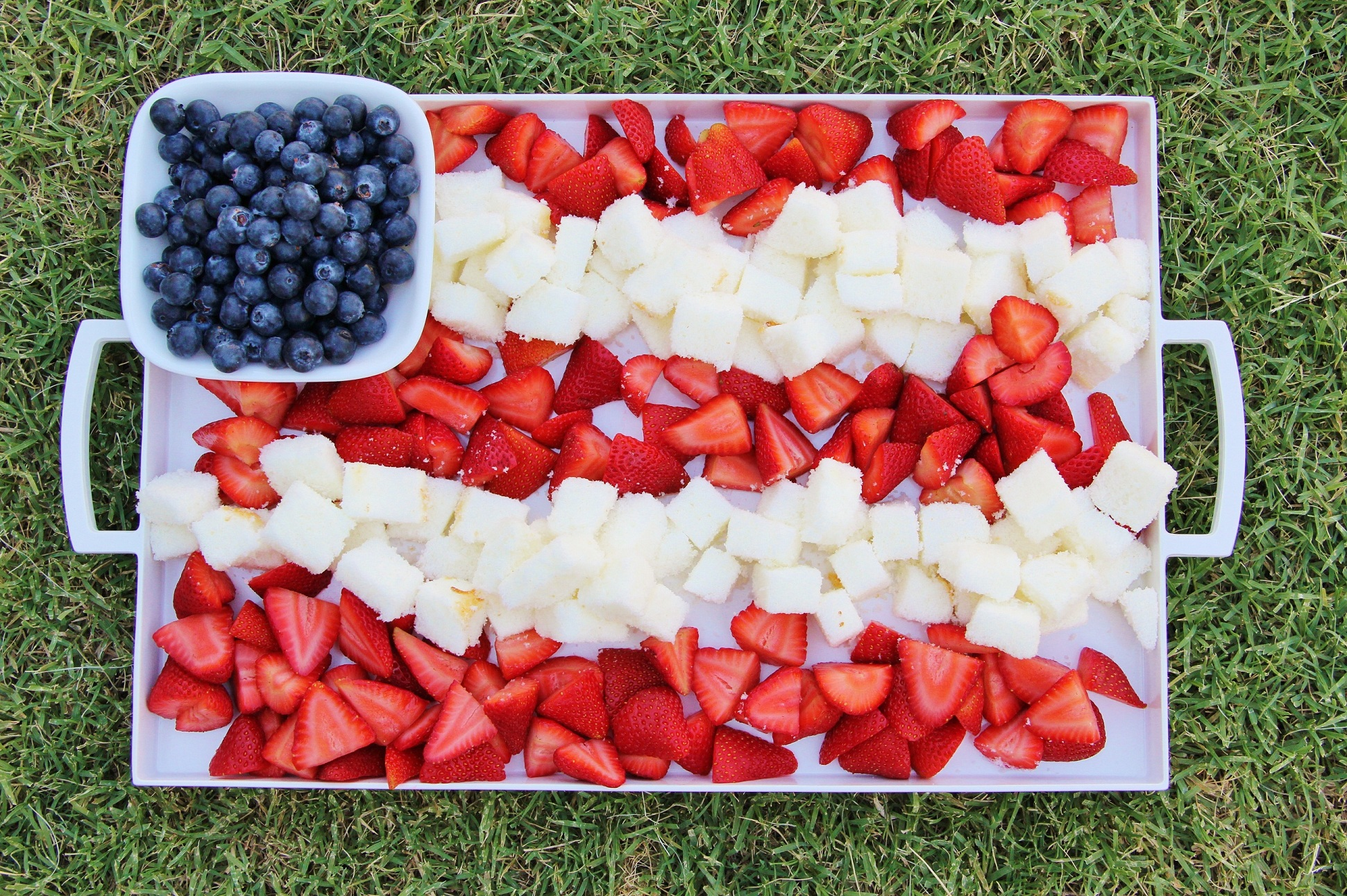 Patriotic Berry Cake Dessert Platter Around My Family