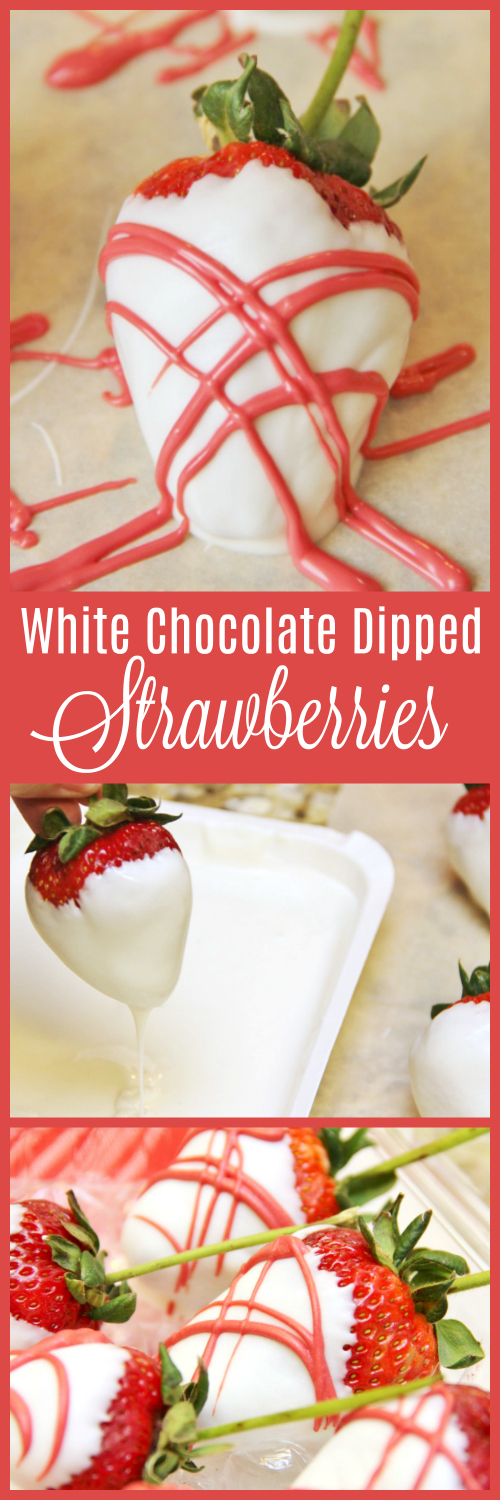 These gorgeousWhite Chocolate Covered Strawberries make a delicious gift and are super easy to make. Skip the expensive mail order strawberries and make your own!