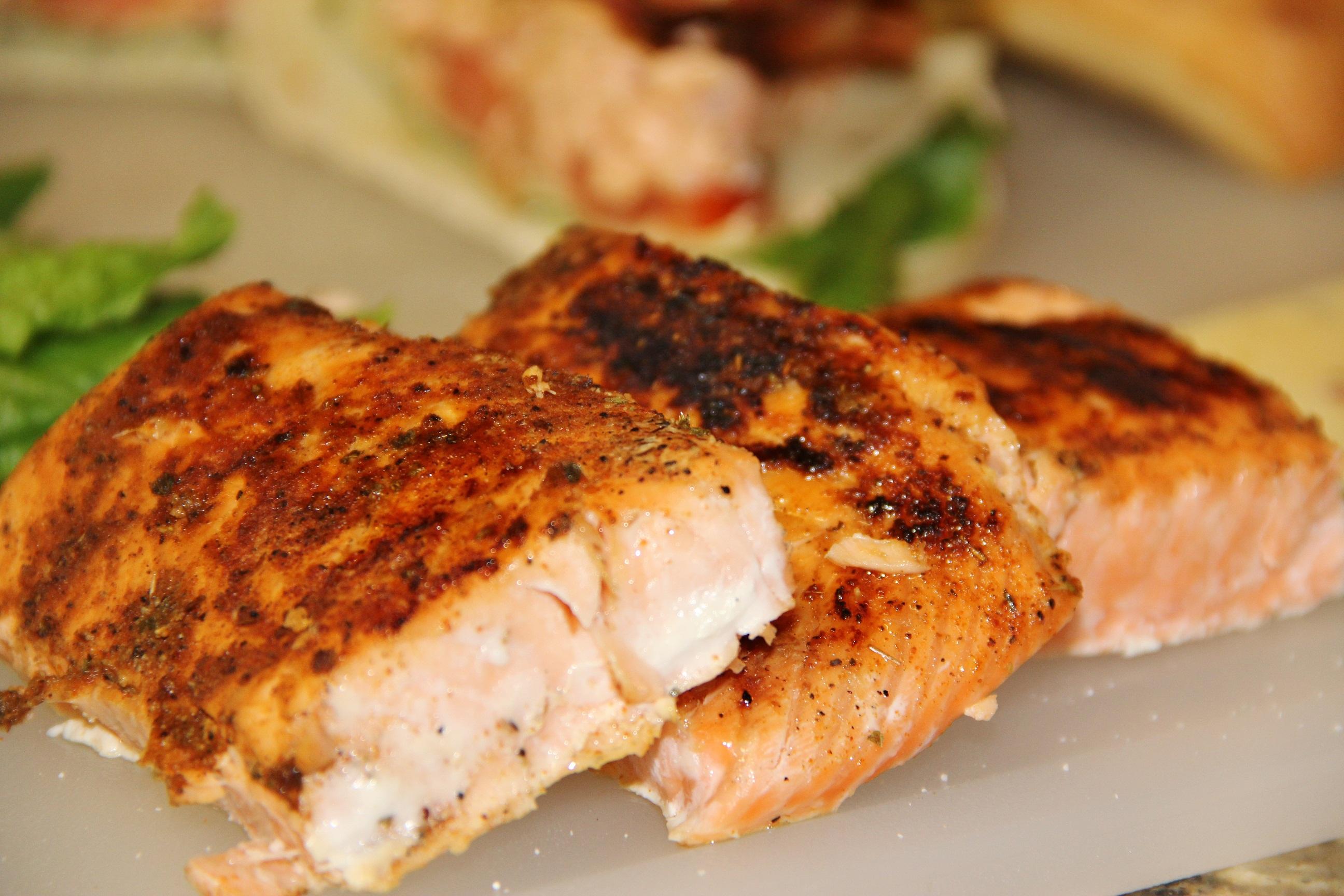 Blackened Salmon for Salmon BLT Sammies