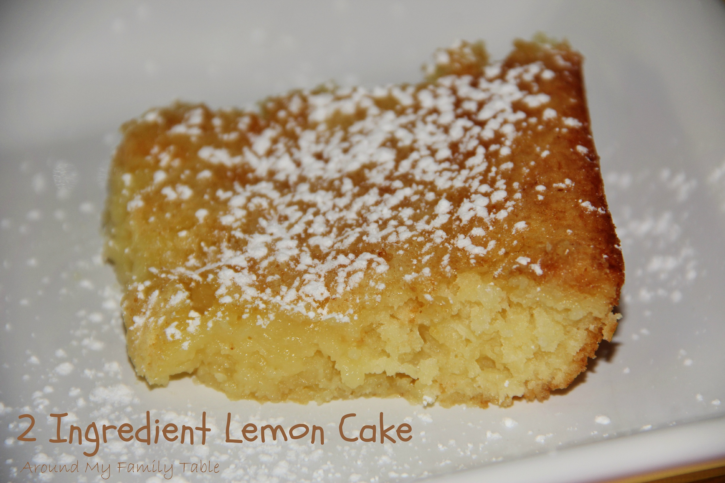 2 Ingredient Lemon Cake - Around My Family Table
