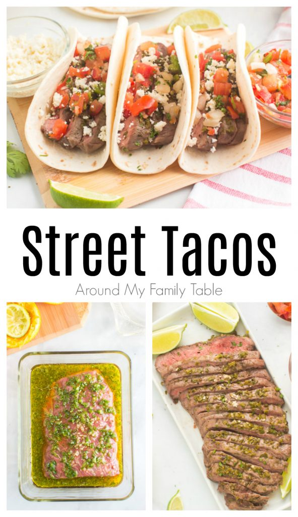 titled Pinterest photo collage for street tacos