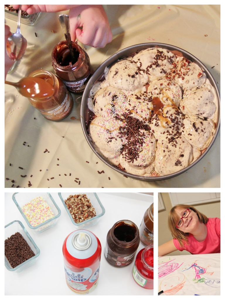 Messy Party Ideas and Recipes: Make your own Ice Cream Cake