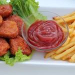 Sticky Sweet & Spicy Chicken Nuggets