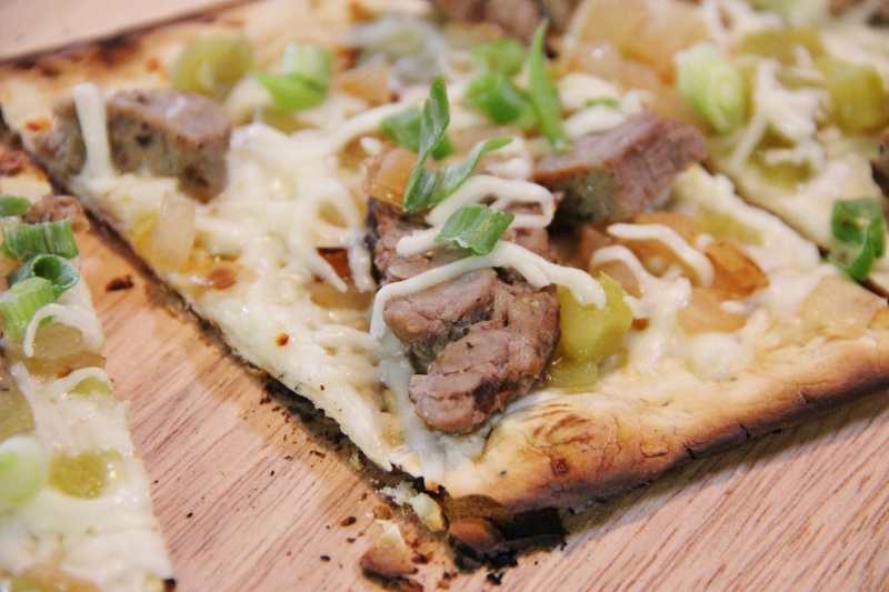 Pizza Fixin's Bar Party Ideas--Carne Asada Pizza