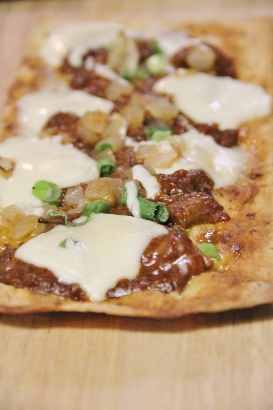 Pizza Fixin's Bar Party Ideas--BBQ Pork Pizza