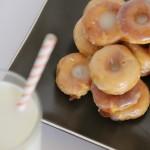 Mini Sweet Potato Donuts with Maple Glaze