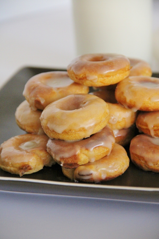 Mini Sweet Potato Donuts with Maple Glaze -- AMFT