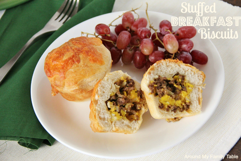 Stuffed Breakfast Biscuits