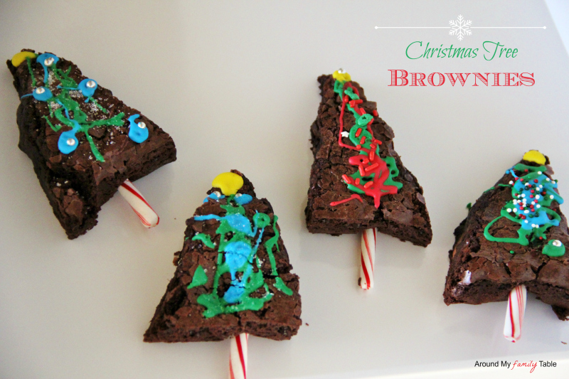 Christmas Tree Brownies Kids