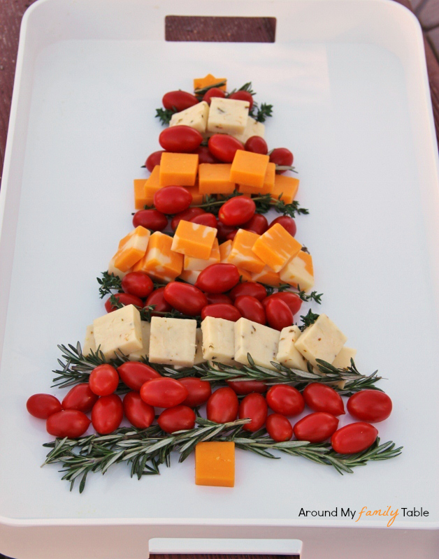 Christmas tree cheese platter around my family table christmas tree cheese platter forumfinder Images