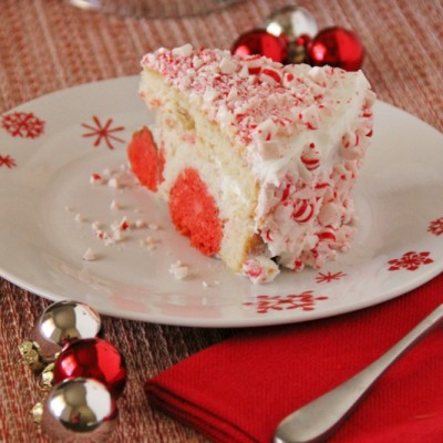 Peppermint Cake with Peppermint Cake Balls