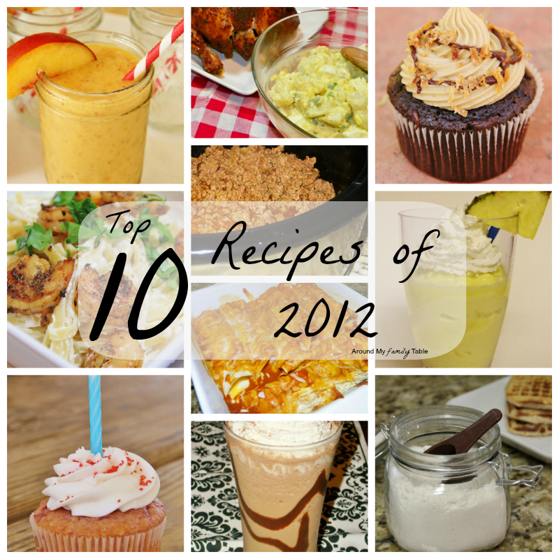 Top 10 AMFT Recipes of 2012
