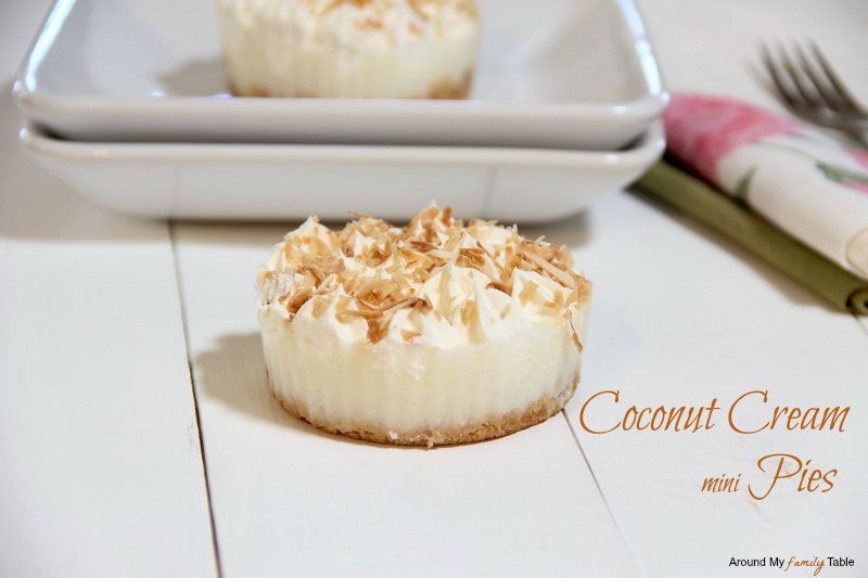 Coconut Cream Mini Pies