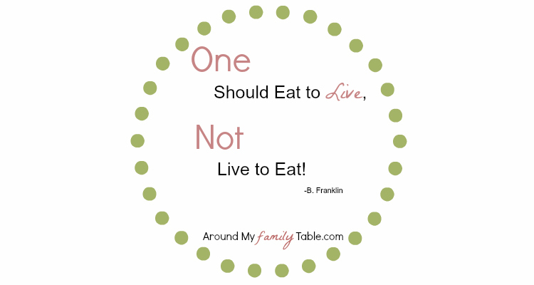 Eat to Live Quote