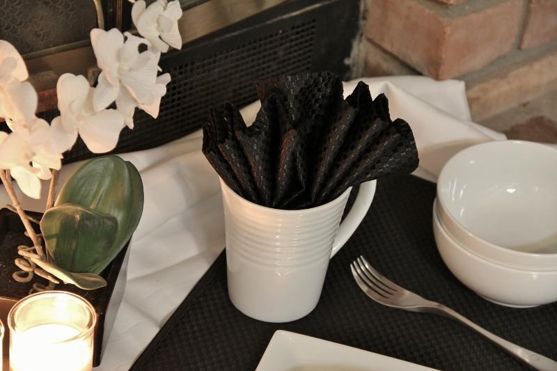 Black & White Tablescape for Two