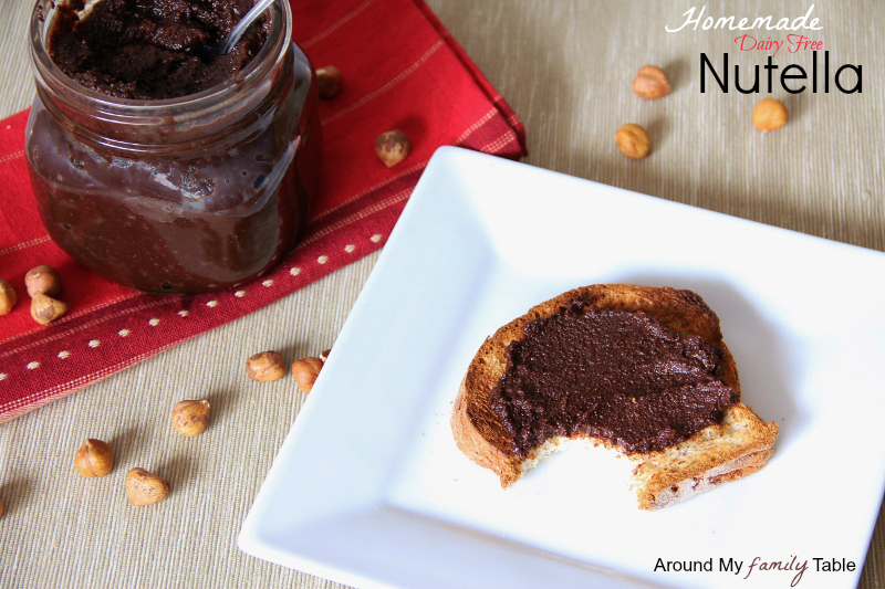 Homemade Dairy Free Hazelnut Spread
