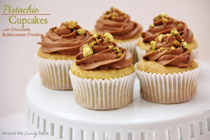 Pistachio Cupcakes - Around My Family Table