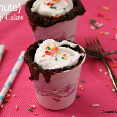 1 Minute Dixie Cup Cakes
