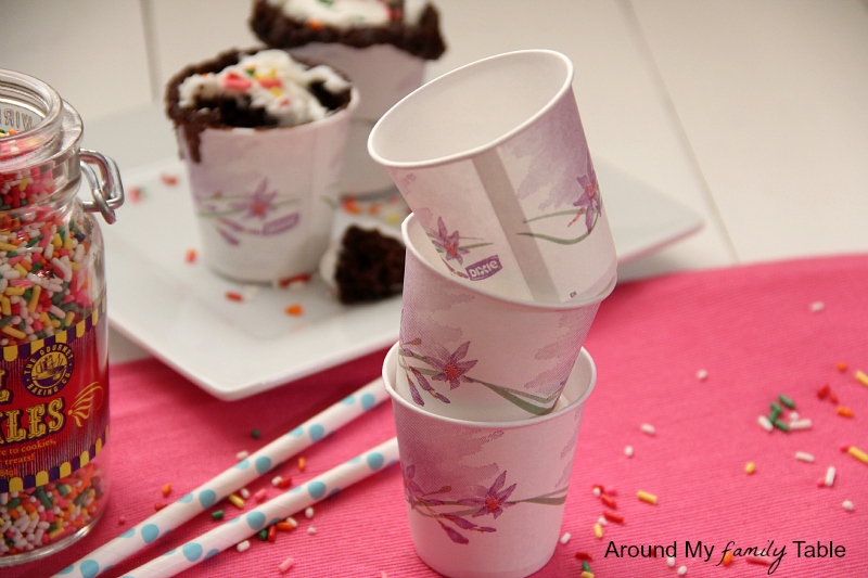 1 Minute Dixie Cup Cakes (just cake mix, water, and a paper dixie cup)