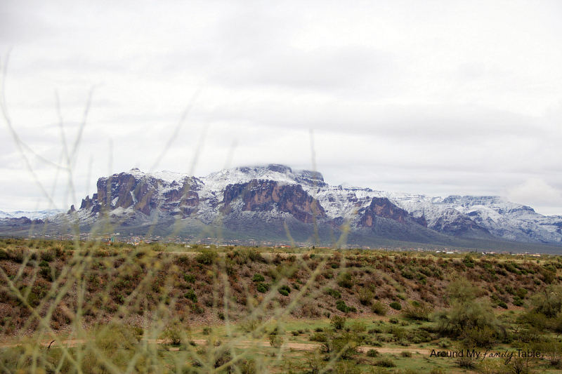 Snow in the Desert {plus a recipe for Snow Ice Cream} | Superstition Mountains in Phoenix, AZ