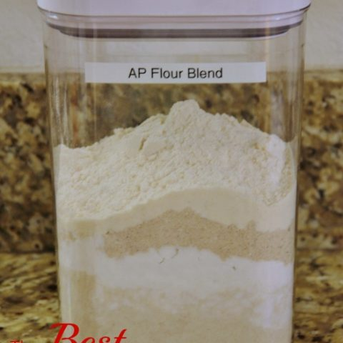 container of gluten free all purpose flour