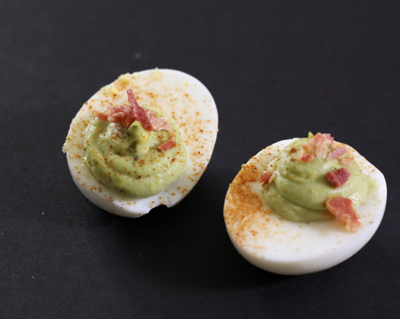Avocado Bacon Deviled Eggs | Around My Family Table